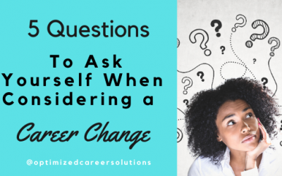 Questions When Considering A Career Change
