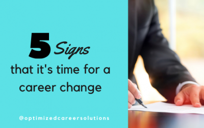 5 Signs that It's Time For a Career Change